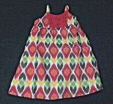 NWT Gymboree Orchid Pink Batik Gem Button Cotton Print Dress Girls 4T 5T