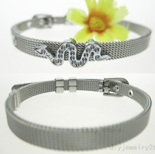 wholesale 6*210mm stainless steel DIY wristbands fit for 6mm slide charms