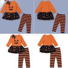 Baby Toddler Girls Halloween Tutu Skirt Outfit Party Top Dress Pants Clothes Set