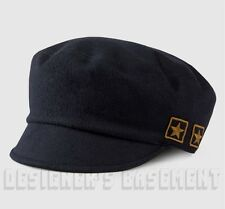GUCCI navy Wool loden Military yellow GG 1921 STAR patches Military hat NWT Auth