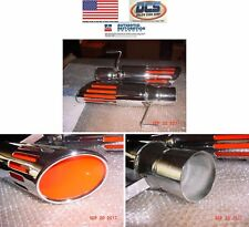 """1973 1974 Plymouth Road Runner GTX Slotted Exhaust Tips 2.50"""" New MoPar USA"""
