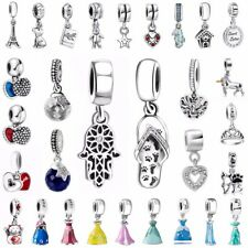 Crystal Pendant Charms Bead Fit European 925 Silver Sterling Bracelets Necklace