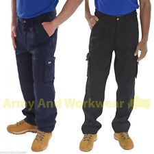 Click Traders Newark Triple Stitched Tool Cargo Pocket Combat Work Mens Trousers
