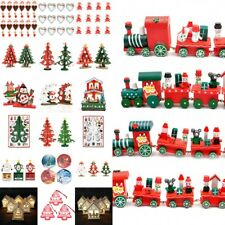 Wood Christmas Xmas Train Lovely Kids Gift Toys Home Party Ornament Decorations