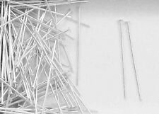 """Sterling Silver 1""""x24 Gauge Domed Style Head Pins, Choice of Lot Size-Price"""