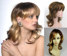 WOMENS LONG MID-LENGTH LAYERED WAVY SHAG WIG W/ BANGS SHANIA JENNIFER DASCHA