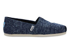 TOMS Womens Classics Navy Washed Denim Espadrilles Slip On Various Sizes