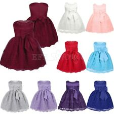Flower Girl Princess Dress Baby Toddler Party Wedding Pageant Birthday Bow Dress