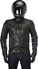 Alpinestars Oscar Mens Black Brass Leather Motorcycle Road Riding Jacket
