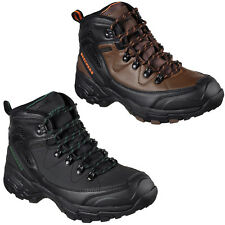 Skechers Relaxed Fit Pedley Aster Boots Mens Waterproof Memory Foam Hiking Shoes