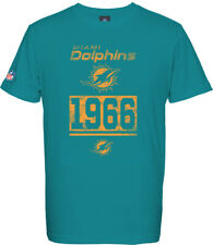 Miami Dolphins T-Shirt T-Shirt, NFL Football, 100% BW, Logo, Team, From Majestic