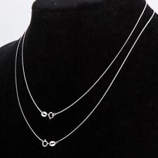 "925 Sterling Silver Stamp 925 SNAKE 1mm Chain Necklace 16"" 18"" 20"" 22"" 24"" 30"""