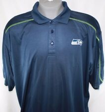 NEW Mens NFL Team Apparel Seattle Seahawks TX3 Cool Navy Polo Golf Style Shirt