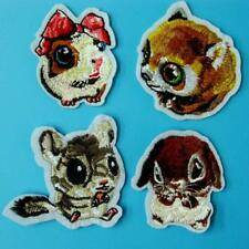 4 Mouse Animal Iron on Sew Patch Applique Badge Embroidered Motif Craft Lot Cute