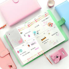 Button Cute Pony Journal Diary Notebook Planner Agenda Memo Faux Leather Cover