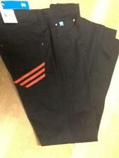 Adidas Originals Trefoil Chino Cargo Pants Black with Red Stripes Rare Find! NWT