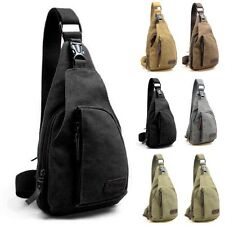 New Military Canvas Satchel Shoulder Bag Travel Hiking Backpack Messenger Bag qp