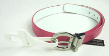Nike Golf - Reversible - Pink/White Genuine Leather Belt - Size: Small NWT