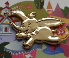 DUMBO DISNEYLAND 10th ANNIVERSARY GOLD GWP FRAMED DISNEY PIN LE 100