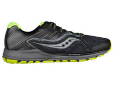 NEW MENS SAUCONY RIDE 10 RUNNING SHOES BLACK / CIRTON