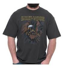 Harley-Davidson Men's Rippin' Eagle Crew Neck Short Sleeve T-Shirt, Tar Gray