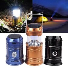 Outdoor Collapsible Solar AC Rechargeable Camping Lantern LED Hand Lamp Light