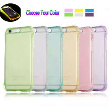 Clear Colorful LED Flash Light Up Incoming Call Case Cover For iPhone 8/8plus /7