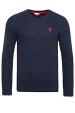 NEW U.S.POLO assn. V-Neck Sweater Men's Pullover Sweatshirt Blue