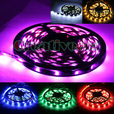 5M 16Ft Roll 300LEDs 5050 SMD Home Wall Trees Flexible LED Strip Light 6 Colors