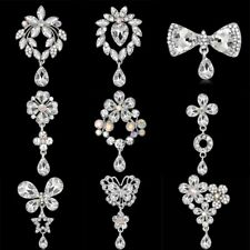 Fashion Beauty Rhinestone Crystal Womens Brooch Pin Xams Jewelry Wedding Gift