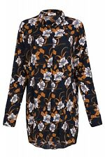 Pieces Tyra LS Shirt Ladies Long SLEEVE-BLOUSE casual-blouse Navy with