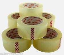 "NEW Lot Packing Carton Sealing Packaging Tape 2"" 55 Yds 165 ft Clear 1.6 MIL"