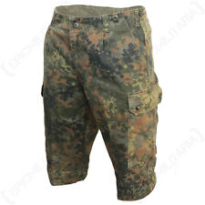 Original German Flecktarn Camo Shorts - Genuine Army Surplus Military Soldier
