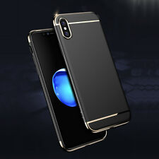 Thin Hard Case Hybrid Shockproof Metal effect Luxury Cover For iPhone X 10 case