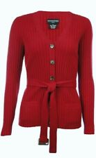 Sutton Studio Womens Cashmere Ribbed Cardigan Sweater Misses