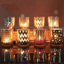 Mosaic Glass Candle Holders Cup Tealight Votive Holder Wedding Home Party Decor