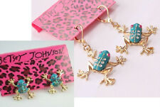 E70 Betsey Johnson Exquisite Cute Forest Little Blue Tree Frog Earrings US