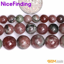 """Natural Round Gemstone Red Garnet Loose Stone Beads For Jewelry Making String15"""""""