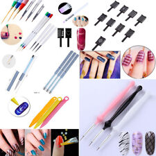 Acrylic UV Gel Liner Brush Pen Set Nail Art Dotting Painting Drawing Liner Tool