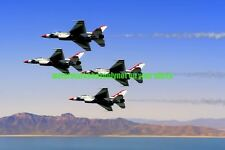 USAF F-16 Thunderbirds Photo Military Color F 16 Fighter Aircraft Vet Air Force