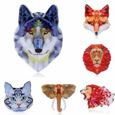 Women Jewelry Fashion Colorful Printing Animal Dog Cat Elephant Brooch Pin Gift