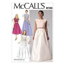 McCALL'S SEWING PATTERN MISSES' EVENING WEDDING TOP & SKIRTS SIZE 6-22 M7355