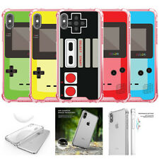 For Apple iPhone X | iPhone 10 (2017) Pink Clear TPU Bumper Case Retro Game