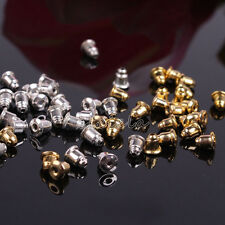50-100Pcs Gold Silver Plated Metal Gun Black Earring Backs Stoppers Cap Finding