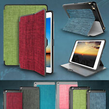 For Apple iPad Fabric Leather Case Slim Smart Stand Soft TPU Protective Cover