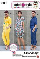 SIMPLICITY SEWING PATTERN MISSES' JUMPSUIT IN 2 LENGTHS SIZES 6 - 24 8060