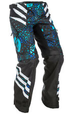 FLY Racing Kinetic Youth Girls Over Boot MX Offroad Pants Blue/Black