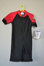 Radicool Rash Guard SPF UPF Swimwear Black Red Surfing Wetsuit - size 6 / 8