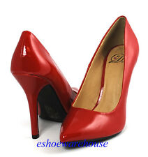 Red  Patent Awesome Sexy Height Pointy Pointed Toe Stilettos Heels Pumps