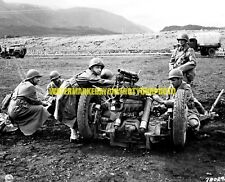 Army Signal Corps 75mm Field Howitzer Black n White Photo Military  37mm WW2